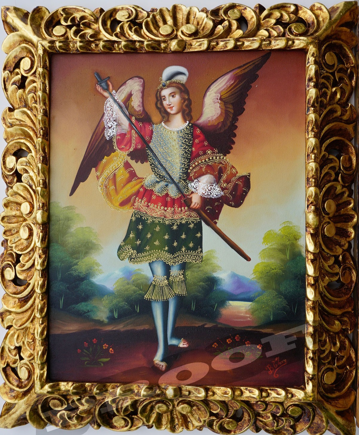 Hadriel Archangel 2012 Oil On Canvas 14 X 18 Inches Frame