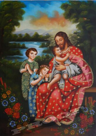 jesus-and-children-2006-20×28